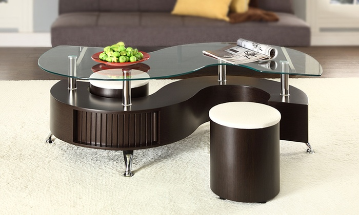 Madrid S Coffee Table And Stools Groupon Goods