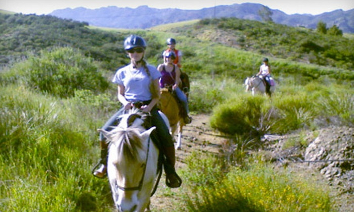 Park Place Stable - Malibu: Scenic and Moonlight Horseback Rides at Park Place Stable in Malibu (Up to 70% Off). Three Options Available.