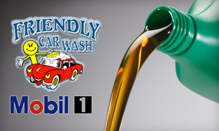 Friendly Carwash - Milford: Oil Change at Friendly Carwash in Milford. Choose Between Two Options.