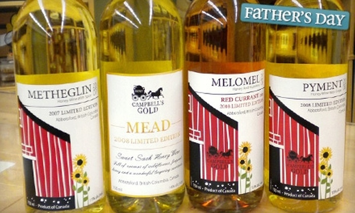Campbell's Gold - Abbotsford: $10 for $20 Worth of Honey Wine at Campbell's Gold