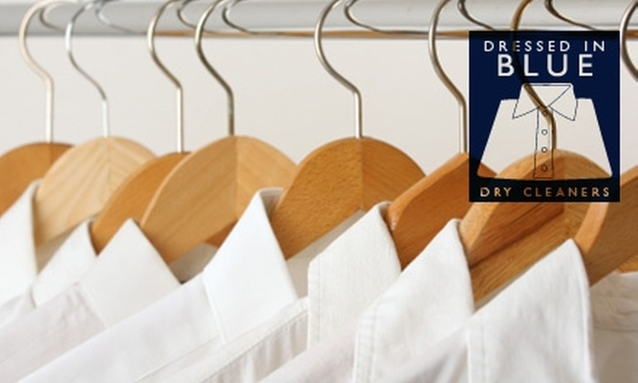 Dressed in Blue Dry Cleaners - Vancouver: $15 for $30 Worth of Dry-Cleaning Services with Pick-Up and Drop-Off from Dressed in Blue Dry Cleaners
