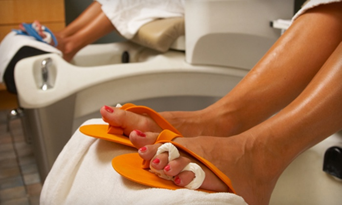 Synergy Fitness & Spa - Bridgeville: $30 for a BYOB Side-by-Side Pedicure for Two at Synergy Fitness & Spa in Bridgeville ($60 Value)