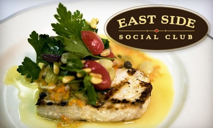 East Side Social Club - Midtown East: $20 for $40 Worth of Italian Fare and Drinks at East Side Social Club
