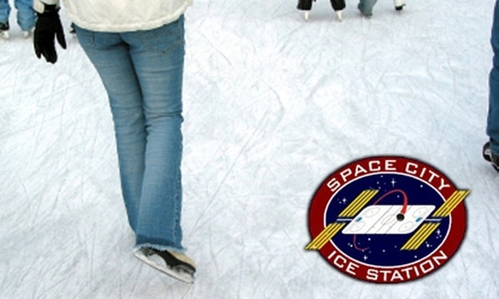 Space City Ice Station - Clear Lake: Public Ice-Skate Sessions or Lessons at Space City Ice Station in Friendswood. Choose from Two Options.
