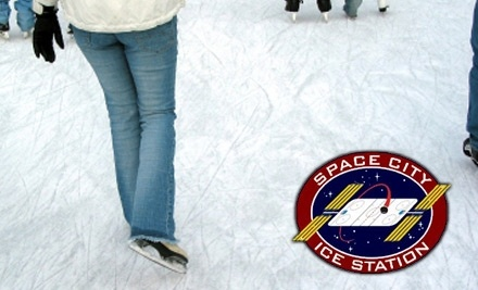 Space City Ice Station: 2 Public Skating Passes with Skate Rental - Space City Ice Station in Friendswood