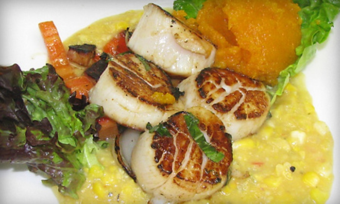 The Fisherman Restaurant and Lounge - Montauk: $37 for a Seafood Dinner for Two at The Fisherman Restaurant and Lounge in Groton ($75 Value)