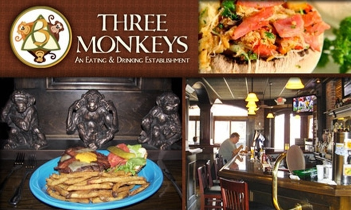 Three Monkeys - Tower Grove South: $10 for $25 Worth of Pub Fare and Libations at Three Monkeys