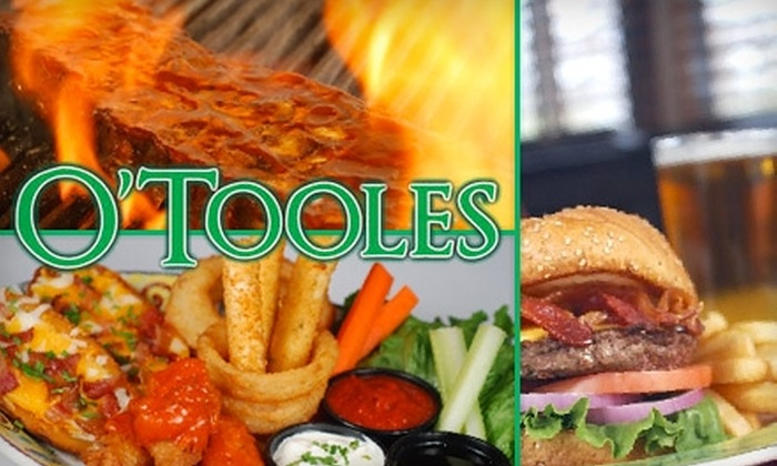 O'Tooles Irish American Grille and Bar - Multiple Locations: $12 for $25 Worth of Pub Fare and Drinks at O'Tooles Irish American Grill and Bar