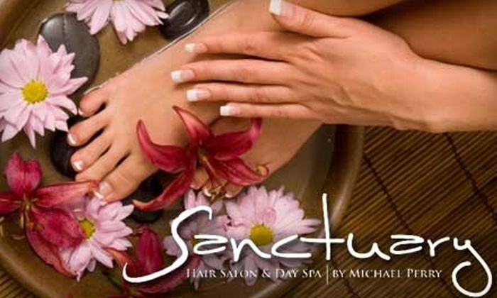 Sanctuary Hair Salon & Day Spa - Wilson: $35 for Manicure and Pedicure at Sanctuary Hair Salon & Day Spa in Easton (Up to $80 Value)