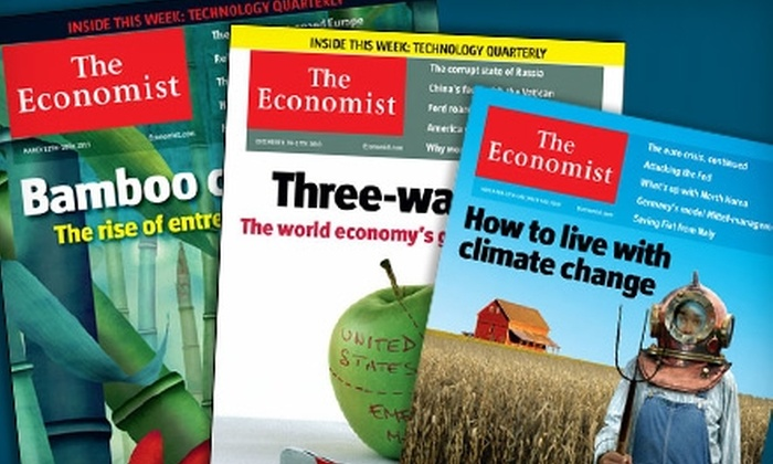 """""""The Economist"""" - Golden Eagle: $51 for 51 Issues of """"The Economist"""" ($126.99 Value)"""