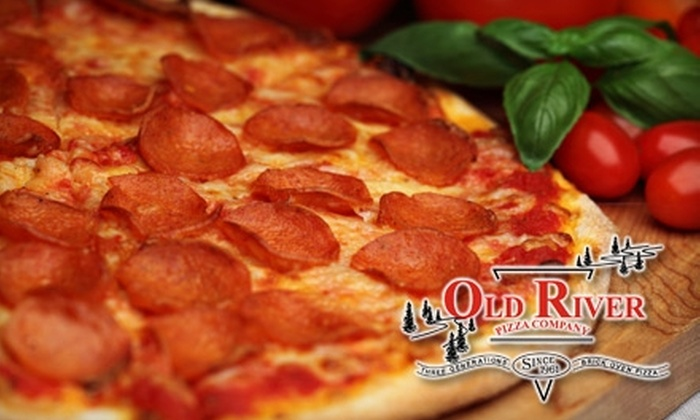 Old River Pizza Company - Council Bluffs: $7 for $15 Worth of Gourmet Pizzas, Subs, Salads, and More at Old River Pizza Company