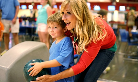 $34 for Two Hours of Bowling with Pizza for Up to Six at Strikes Unlimited (Up to $98.24 Total Value)