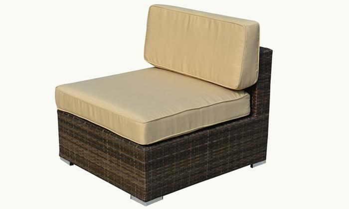 Outdoor sectional sofa set groupon for Sectional sofa set deals