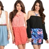 Sleeveless and Off-the-Shoulder Minidresses