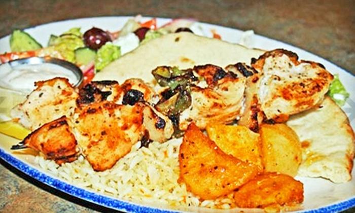 Athens Restaurant - West End: Souvlaki Dinner for Two or Four or À La Carte Breakfast at Athens Restaurant