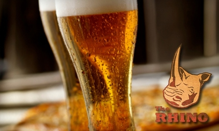 The Rhino - Beltline: $10 for $20 Worth of Pub Fare and Drinks at The Rhino