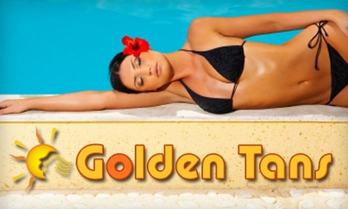 Golden Tans - East Avenue: $20 for $45 Worth of VersaSpa Sunless Tanning or Tanning-Bed Sessions at Golden Tans