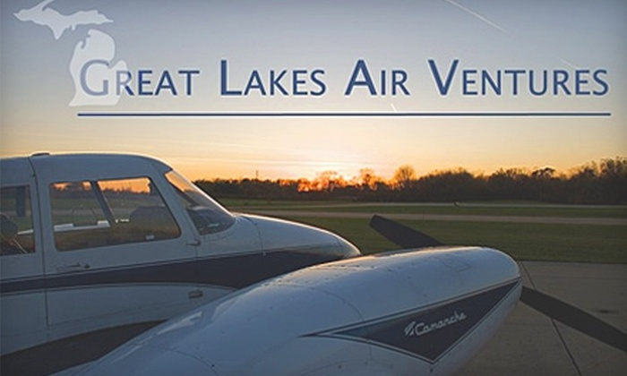 Great Lakes Air Ventures - Charlotte: $300 for Private Pilot Ground School and Textbook Package or $97 for First Flight Lesson at Great Lakes Air Ventures