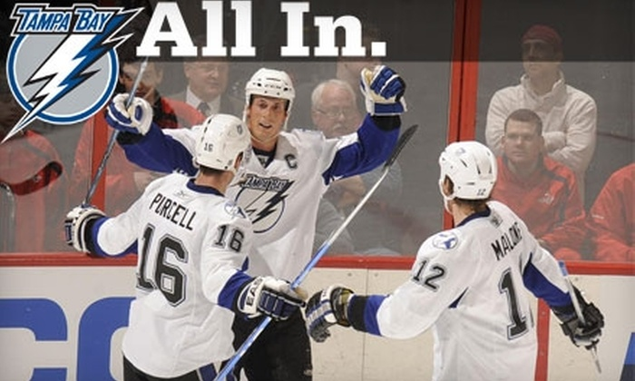Tampa Bay Lightning - Downtown: $30 for Tampa Bay Lightning Game Package (Up to $67.75 Value). Choose from Six Games.