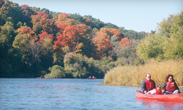Heritage River Canoe & Kayak Company - Paris: $38 for a 2.5-Hour Guided Fall Colours Kayak or Canoe Tour from Heritage River Canoe & Kayak Company in Bean Park ($79.95 Value)