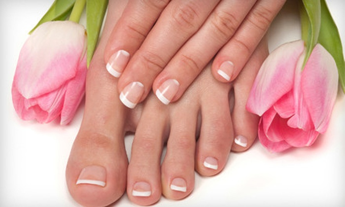 Salon 22 - Crete: Mani-Pedi or Natural Human-Hair Extensions at Salon 22 in Crete (Up to 80% Off). Choose from Three Options.