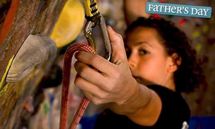 Rocknasium - Davis: $15 for an Adult Day Pass, Equipment Rental, and Belay Class ($30 Value), or $49 for a One-Month Family Membership with Equipment Use ($100 Value) at Rocknasium in Davis