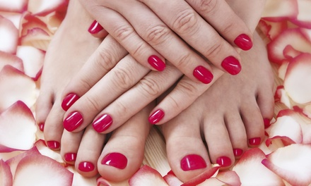 A Spa Manicure and Pedicure from Saints N Scissors (50% Off)