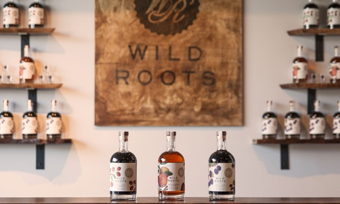 Wild Roots Vodka - Kerns: Vodka Flights and Shot Glasses for Two or Four People at Wild Roots Vodka (Up to 48% Off)