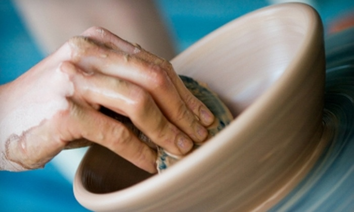 Earth & Soul Pottery - East Bayside - India Street: $22 for Two Adult Drop-In Pottery Classes at Earth & Soul Pottery ($45 Value)