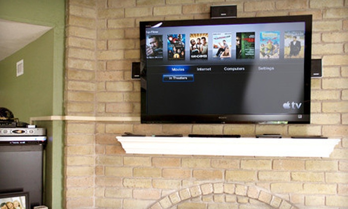 Honest Install - Plano: TV-Wall-Mounting or Installation with Tilting Bracket and HDMI Cables from Honest Install (Up to Half Off)