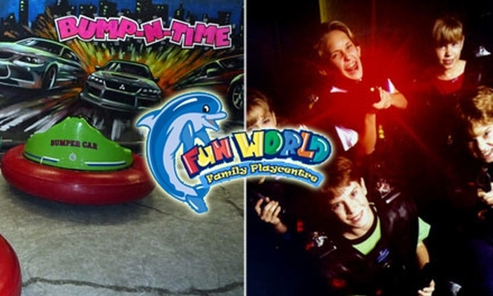 Fun World Playcentre - Fleetwood: $12 for a 10-Pack of Bumper Car Rides ($24 Value) or $22 for a 10-Pack of Laser Tag Games ($45 Value) at Fun World Playcentre