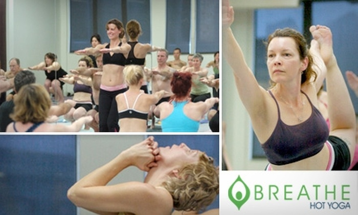 Breathe Hot Yoga - Belltown: $30 for One Month of Unlimited Yoga Classes at Breathe Hot Yoga ($145 Value)
