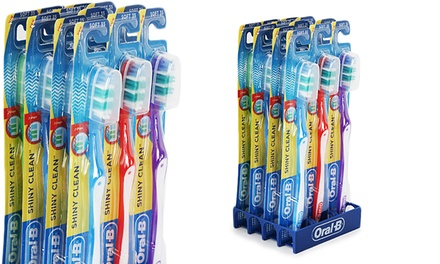 12-Pack Oral-B Shiny Clean Toothbrushes