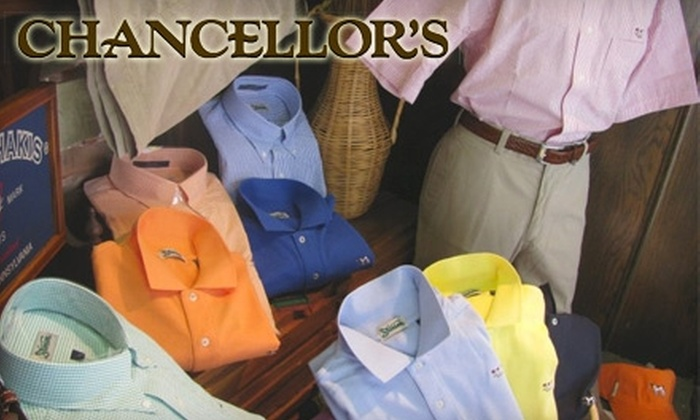 Chancellor's - Downtown Columbus: $20 for $40 Worth of Gentlemen's Apparel at Chancellor's