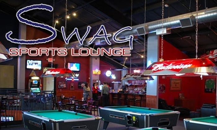 SWAG Sports Lounge - Houston: $10 for $20 Worth of Classic Bar Fare and Drinks at Swag Sports Lounge