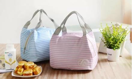 1,2 ou 4 sacs déjeuner isothermes rayés, coloris aux choix