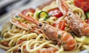 Ristorante Pizzeria Villa Cupido: Menu di Mare con poker di antipasti, scelta con astice e bottiglia di vino da Villa Cupido ( sconto fino a 59%)