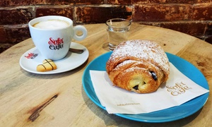Sofá Café: Coffee, Pastries, Sandwiches, and Salads at Sofá Café (Up to 45% Off). Two Options Available.
