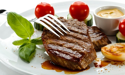 $49.50 for a Steak Meal for Two at Jamil's Steakhouse ($93.88 Value)