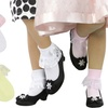 Girls' Fold-Over Lace Detail Socks (6-Pack)