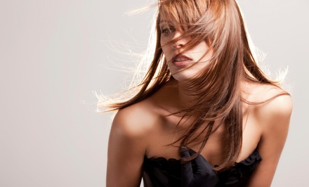 Haircut and Coloring Packages at Hair Salon & Color Lab (Up to 77% Off). Five Options Available.