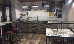 Food Factory: Menu d'asporto di terra e di mare con bottiglia di vino da Food Factory a Trastevere (sconto fino a 58%)