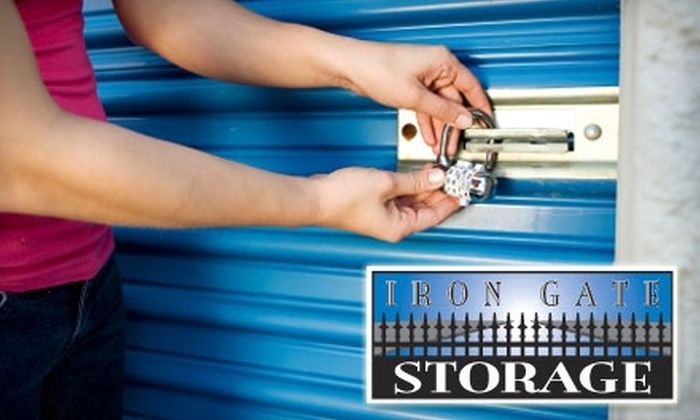 Iron Gate Storage - Multiple Locations: $25 for $100 Worth of Storage at Iron Gate Storage
