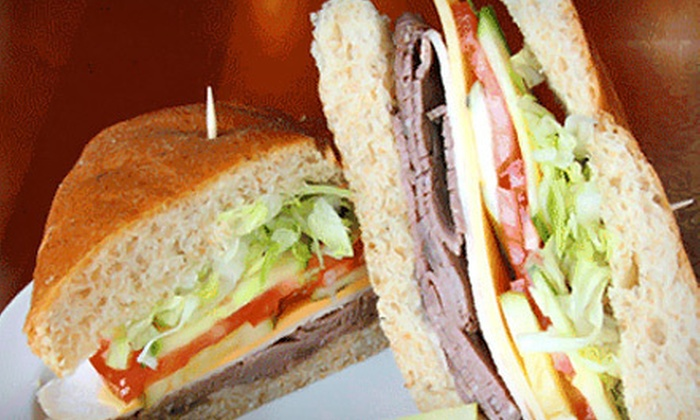 Brown Baggers - Multiple Locations: Five Half-Sandwiches or $5 for $10 Worth of Sandwiches and Catering at Brown Baggers