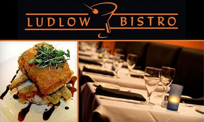 Ludlow Bistro - Deer Park: $25 for $50 Worth of Contemporary Cuisine and Drinks at Ludlow Bistro in Deer Park