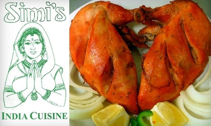 Simi's India Cuisine - Balcones Heights: $30 Worth of Authentic Indian Fare at Simi's India Cuisine