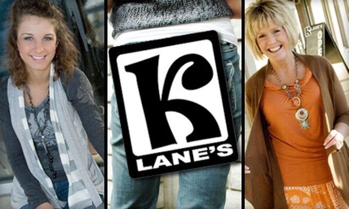 K.Lane's Boutique - Multiple Locations: $20 for $50 Worth of Merchandise from K.Lane's Boutique