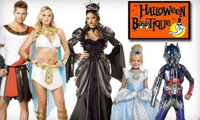 Halloween Bootique - Multiple Locations: $10 for $20 Worth of Halloween Costumes and Accessories at Halloween Bootique. Choose from Two Locations.