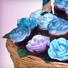 Half Off Flower-Cupcake-Bouquet Gift Basket