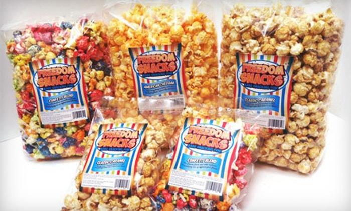 Freedom Snacks: $20 for a Delivered Gourmet-Popcorn Sampler from Freedom Snacks ($41.08 Value)